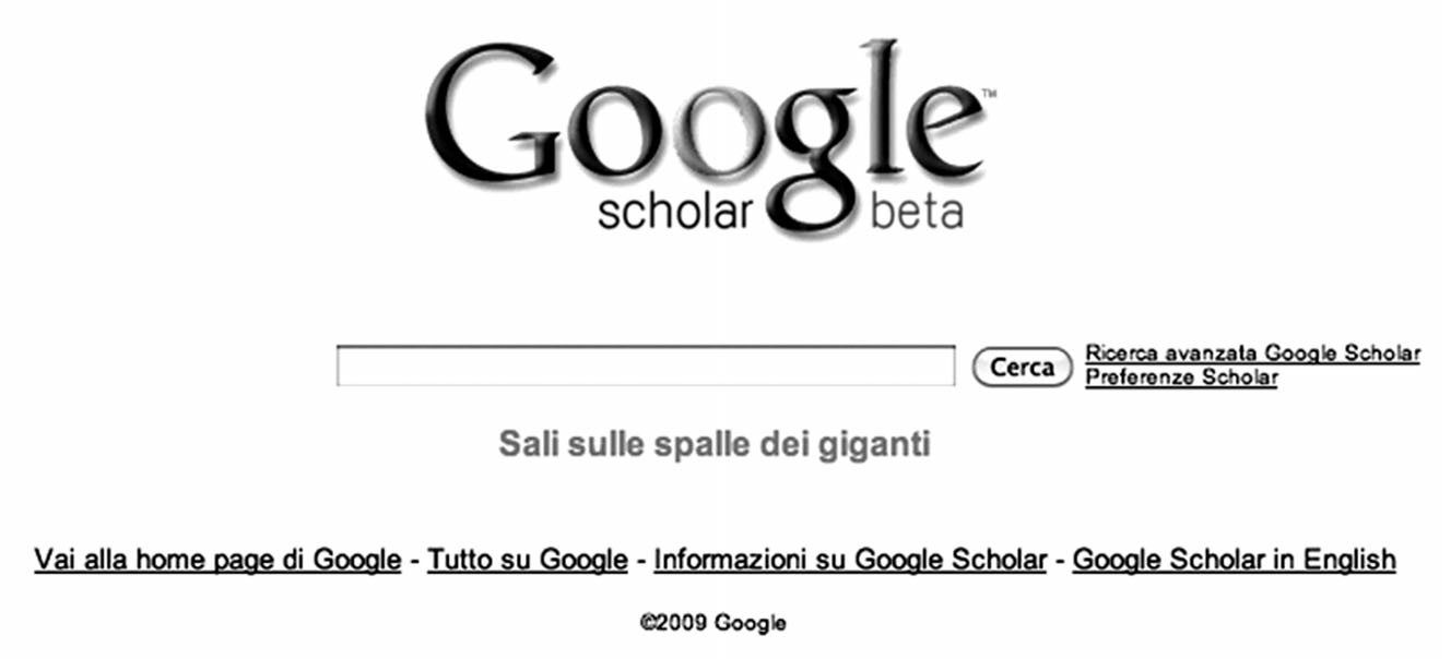 home page Google Scholar